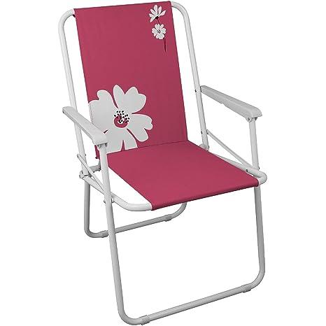 Camping silla de jardín silla plegable - Rosa - Muebles de ...
