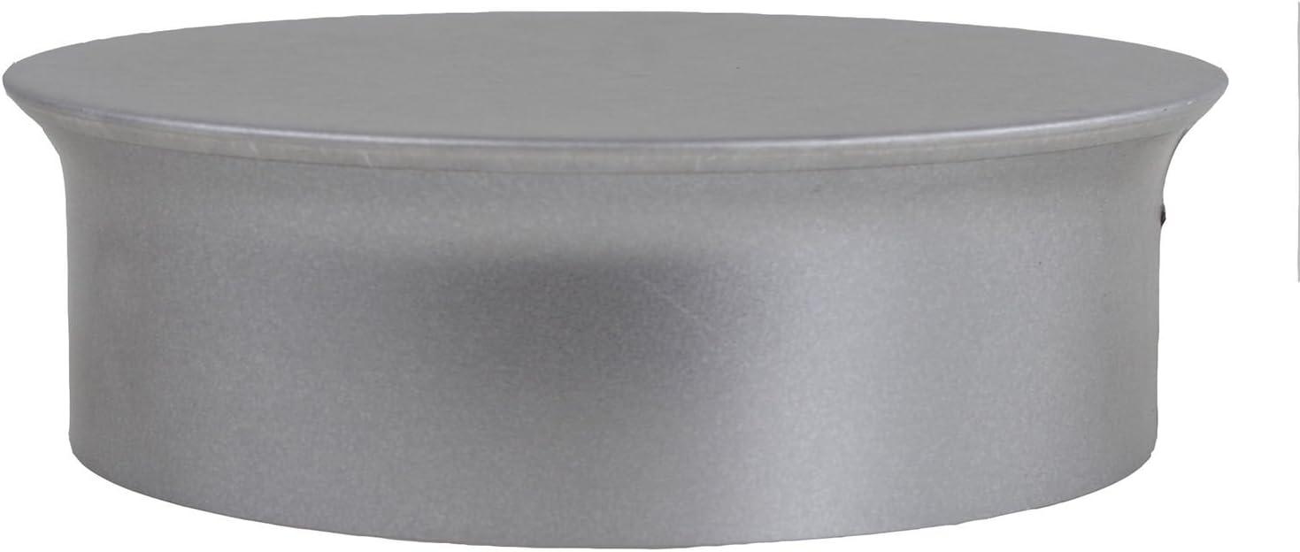 Kamino - Flam – Tapa para tubo de chimeneas, estufas y hornos de leña, Tapa para chimenea – acero con revestimiento de aluminio - Ø 150 mm – resistente a altas temperaturas
