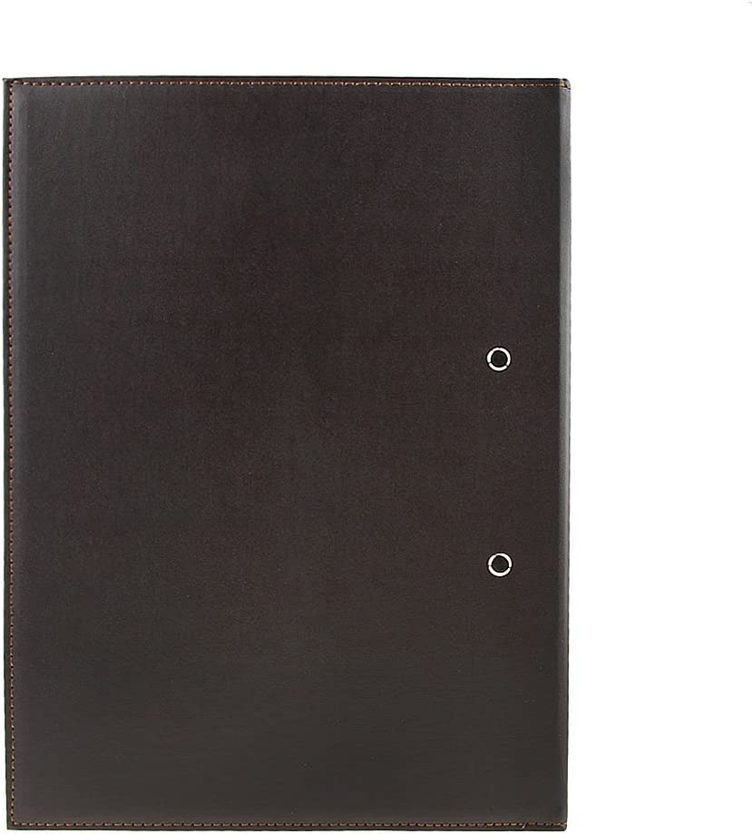 File Folder Portfolio Upscale Leather A4 Lever Arch File Cover Clipboard Paper Documents Storage Folders Binder Clip Portfolio Writing Board Pad Tablet Project File Folder Double Paper Clips