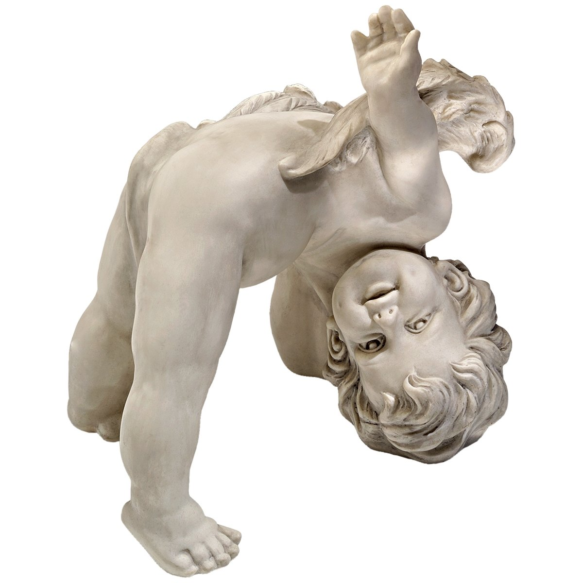 Design Toscano SH93042209 Tumbling Cherub Statue - Set of Topsy and Turvey - antique stone