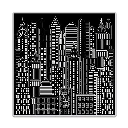 Bold Art - Hero Arts Bold Prints Background Cling Stamps Urban Skyline
