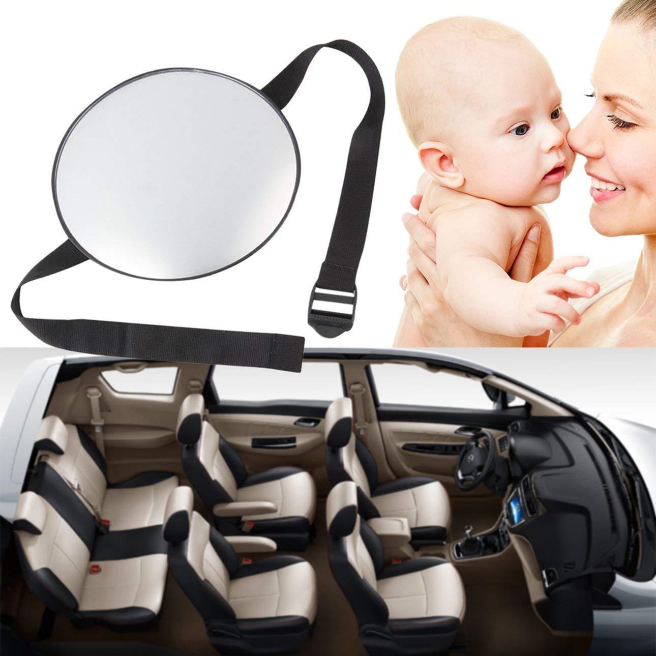 Ballylelly Elegante Seguridad para el autom/óvil Vista f/ácil Asiento Trasero Espejo Beb/é Mirando hacia atr/ás Guarda Infantil Cuidado Infantil Forma Redonda Beb/é Ni/ños Monitor