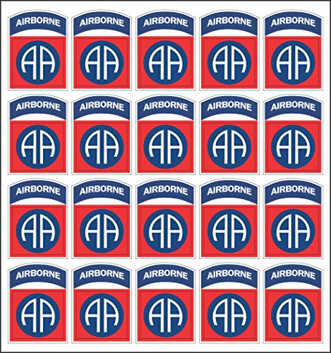 MilitaryBest Army 82nd Airborne Division Patch 20x2 Peel and Stick Decals