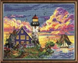 Design Works Lighthouse Sunset Counted Cross Stitch Kit with Gift Card