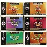 Stash Tea Black Tea Six Flavor Assortment, 18-20 Count Tea Bags in Foil (Pack of 6)