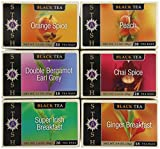 Stash Tea Black Tea Six Flavor Assortment, 18-20 Count Tea Bags in Foil (Pack of 6)