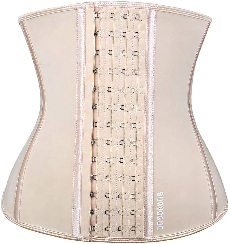 Burvogue Waist Trainer for Weight Loss-Women Trimmer Slimmer Belt Latex Corset Cincher Body Shaper