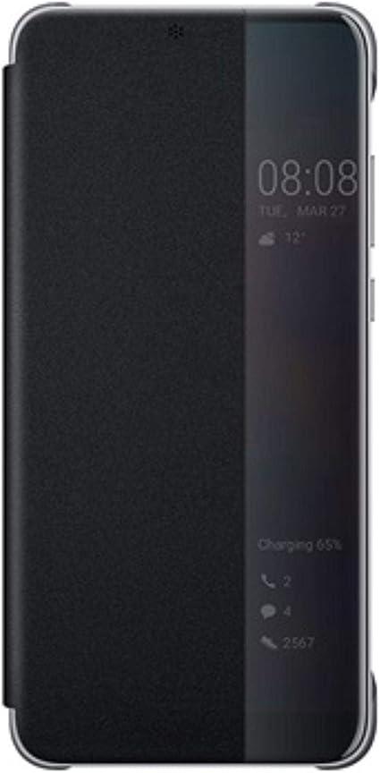 Huawei Officiel Smart View Flip Cover Coque Housse Étui pour Huawei P20 Pro - Noir