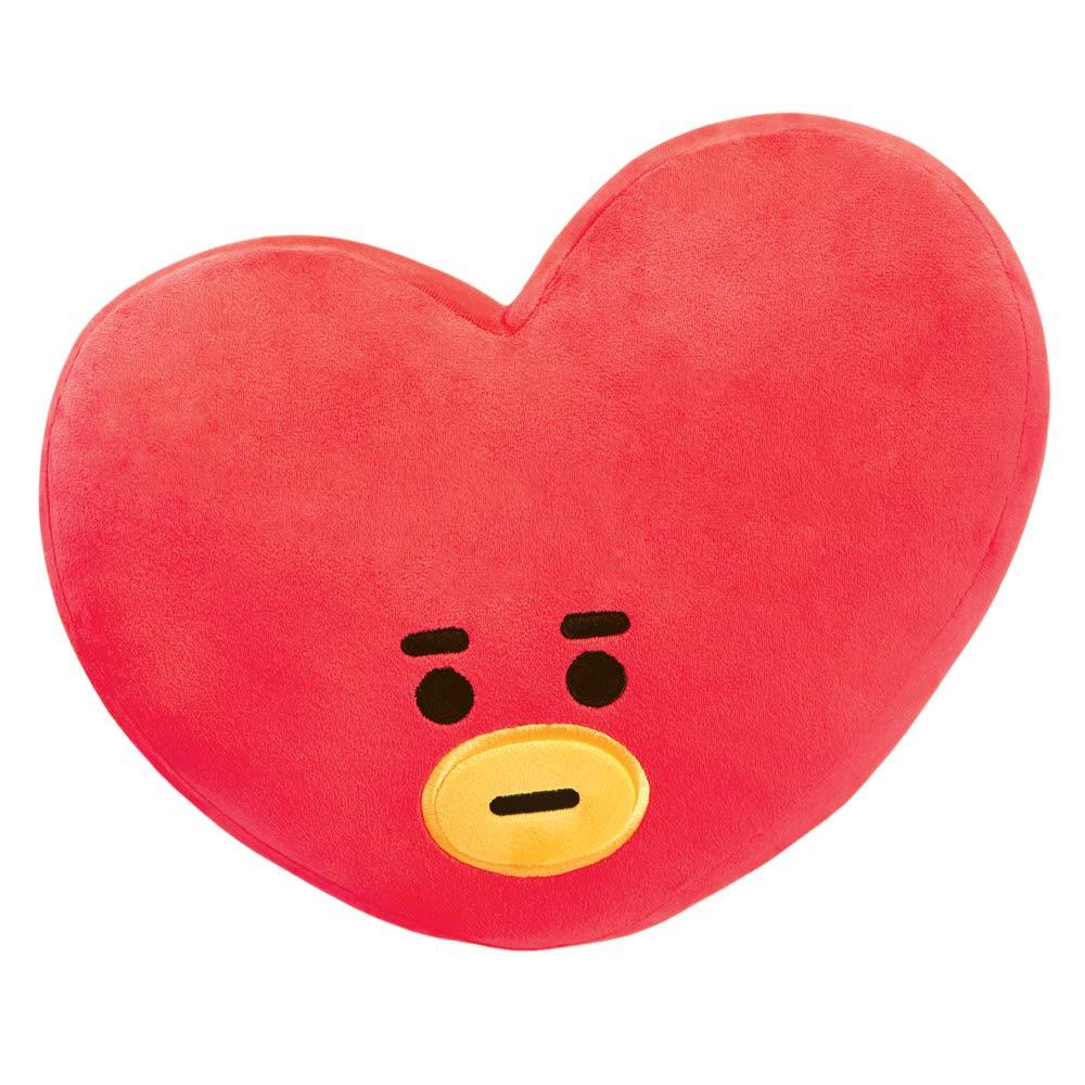 BT21 Official Merchandise, TATA Plush Cushion, 61343, Red