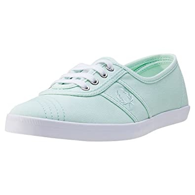 Fred Perry - Zapatillas de Mujer de Color Turquesa Fred Perry Aubrey Twill Dusty Aqua - Turquesa, 40: Amazon.es: Zapatos y complementos
