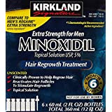 Kirkland Minoxidil 5% Extra Strength Hair Regrowth for Men, 2 Fl Oz, 6 Count
