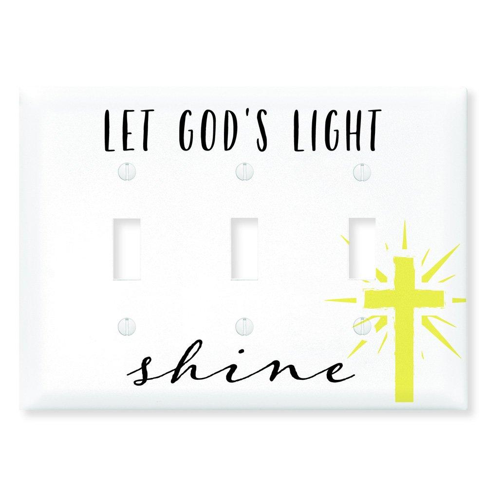 Dexsa ライトスイッチ インスピレーションプレートカバー - Let Your Light Shine 3スイッチカバー - Let God's Light Shine B078TWZ484