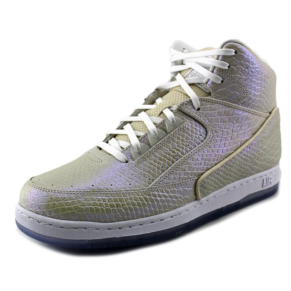 NIKE Air Python PRM Men Round Toe Leather Basketball Shoe B012ZC2K80 12.5 White