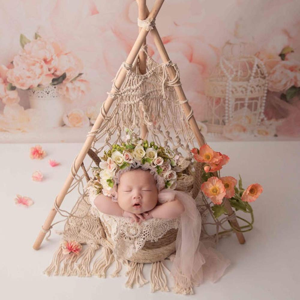 Dvotinst Newborn Photography Props Retro Background Mini Tent Decoration Wigwam Fotografia Accessories Studio Shoot Photo Props