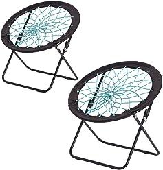 dd2cf03c156d CampLand Bunjo Bungee Dish Chair Folding Camping Relax Fun Chair