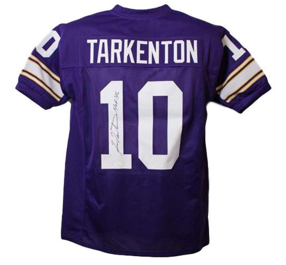 4d9f41cef Fran Tarkenton Autographed Minnesota Vikings XL Purple Jersey HOF JSA