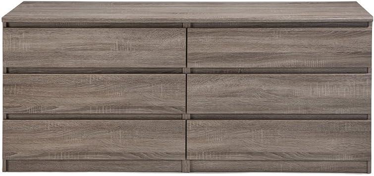 Tvilum Scottsdale 6 Drawer Chest In Truffle Furniture Decor