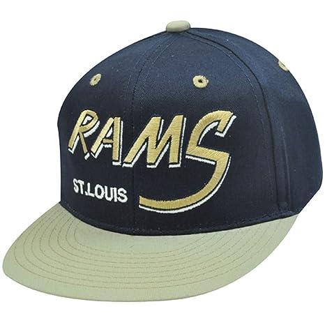 NFL St, LOUIS RAMS FLAT BILL vieja escuela gorra sombrero: Amazon ...