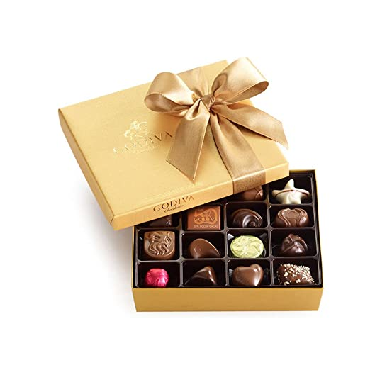 Godiva Chocolatier Classic Gold Ballotin Chocolate, Perfect Hostess Holiday Gift, 19 Count