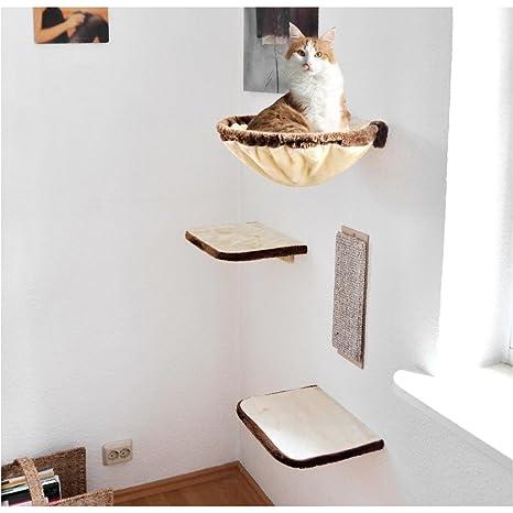 Silvio Design Katzen Kletterwand 4 Teilig Beige Braun 21877 000
