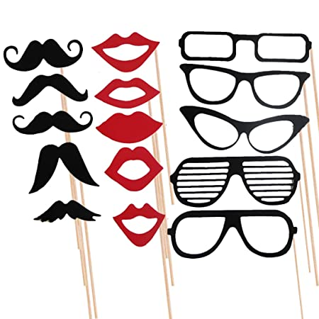 7591bb9e7816 joyliveCY 15Pcs Photo Booth Props Moustache Lips Glasses On A Stick Party  Birthday Wedding  Energy Class A