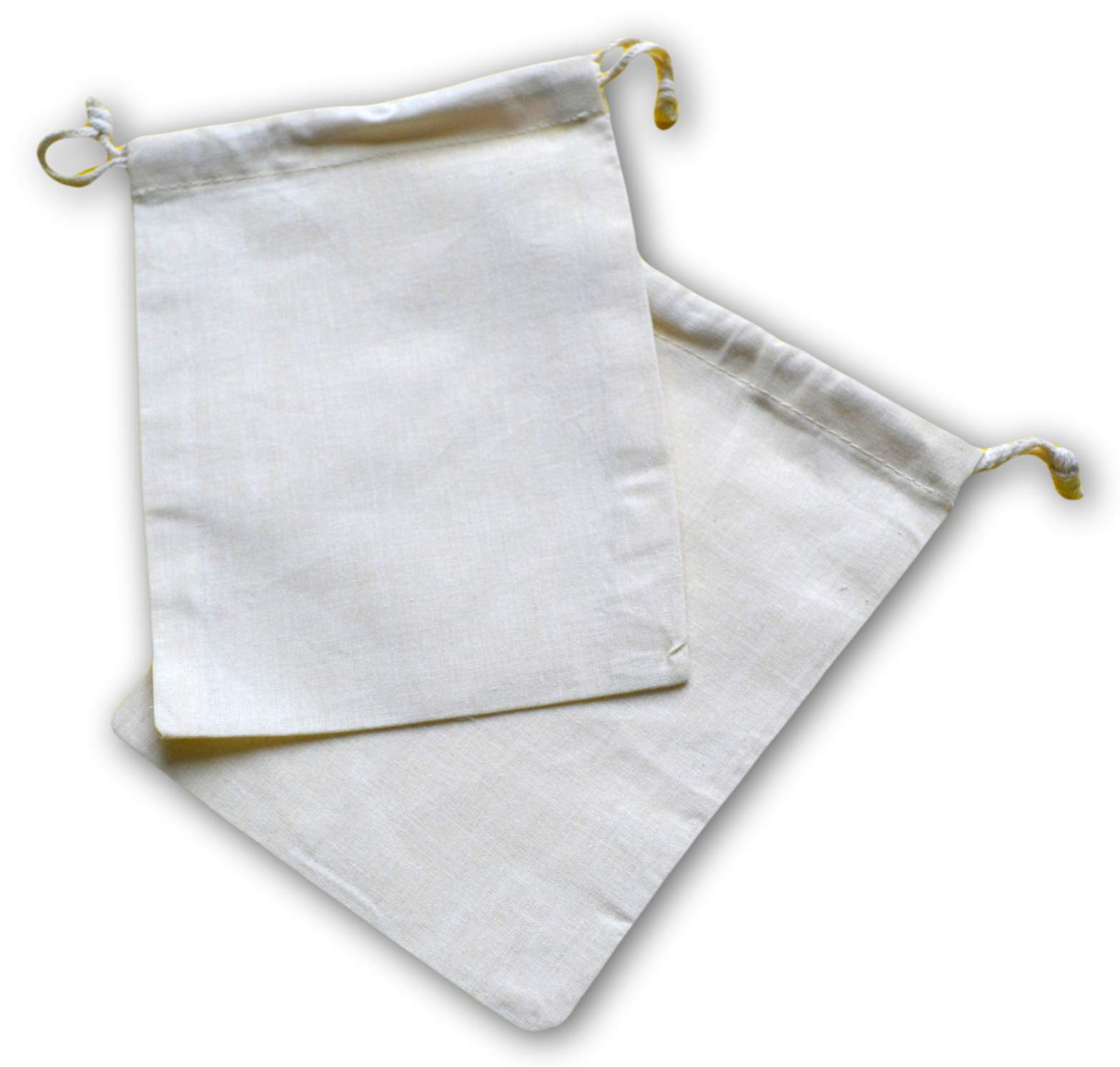 Reusable Eco Friendly 100% Cotton Double Drawstring Muslin Bags Bags 3x4 inches Premium Quality-100 Count Pack (Natural Color)