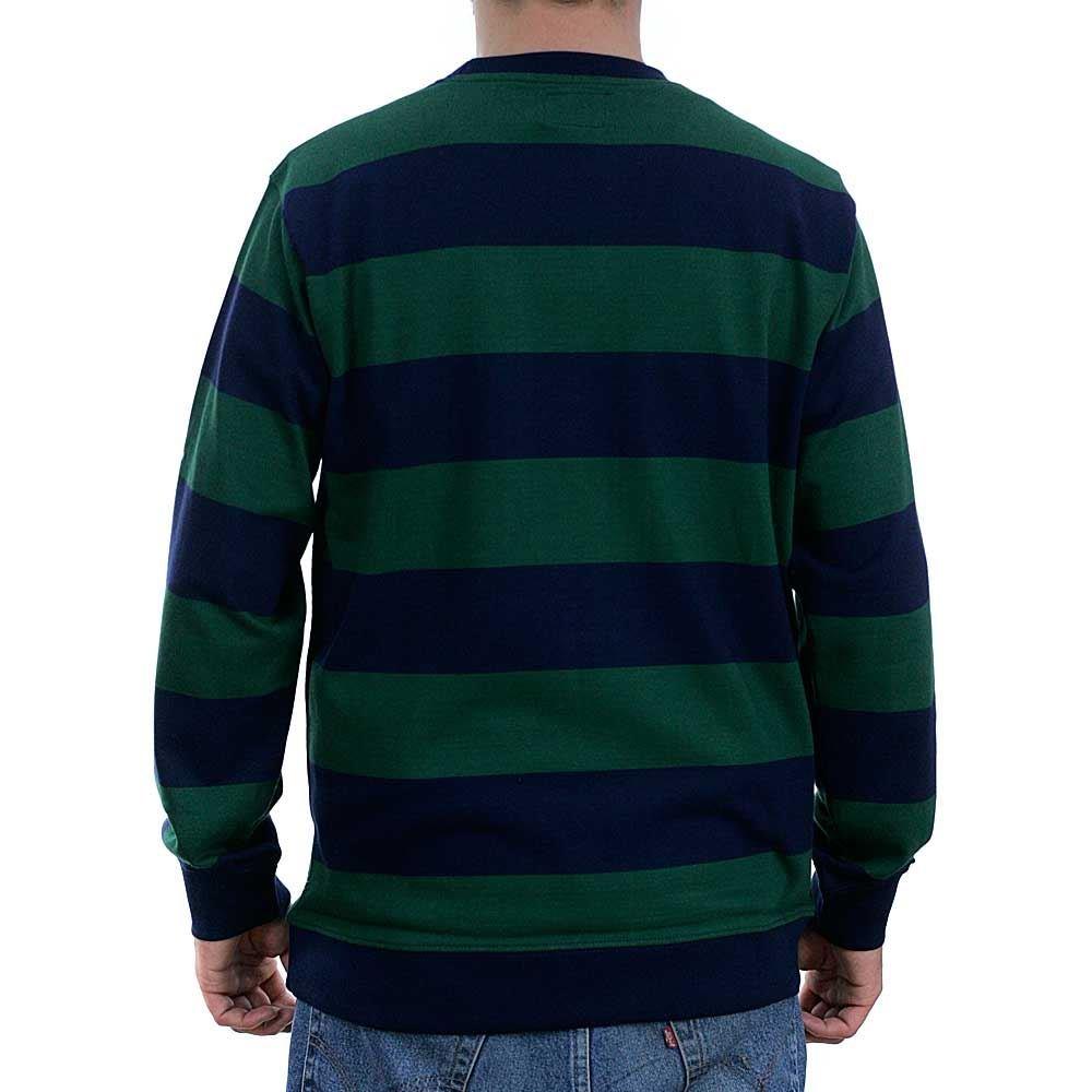 STUSSY TIE DYE STRIPE LS JERSEY 1140063 GREEN LONG SLEEVE STREET SUPREME SKATE S