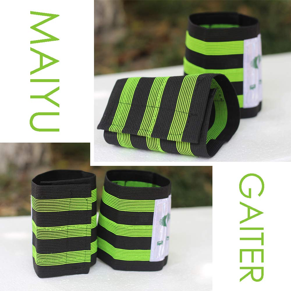 MAIYU 2 Pcs Cycling Safety Bind Pant Leg Bands Clip Strap Bike Bicycle Elastic Ankle Leg Riding Puttee Bind Trousers Pants Fastening Belt