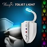 [UV Germicide/Sterilisation]KINGSO Lampe de Toilette avec UV Germicide/Sterilisation Veilleuse LED pour WC/ Cuvette Siège/ Salle de Bain/ Cabinet/ Lavabo/ Seau d'aisances, Capteur Détecteur de Mouvement Éclairage Spéciale à 8 Changement de Couleurs