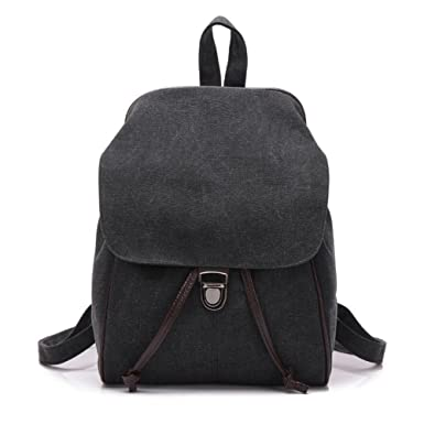 f7f15d3817df Mini Canvas Backpack Travel Daypack Casual Shoulder Bag for Women and Girls