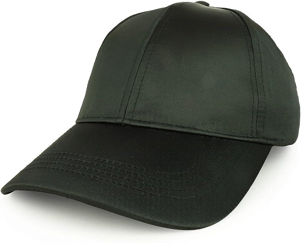 Trendy Apparel Shop Plain Adjustable Satin Baseball Cap