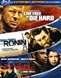 Extreme Action 3-Pack (Live Free or Die Hard / Ronin / The Siege) [Blu-ray] (Bilingual) [Import]