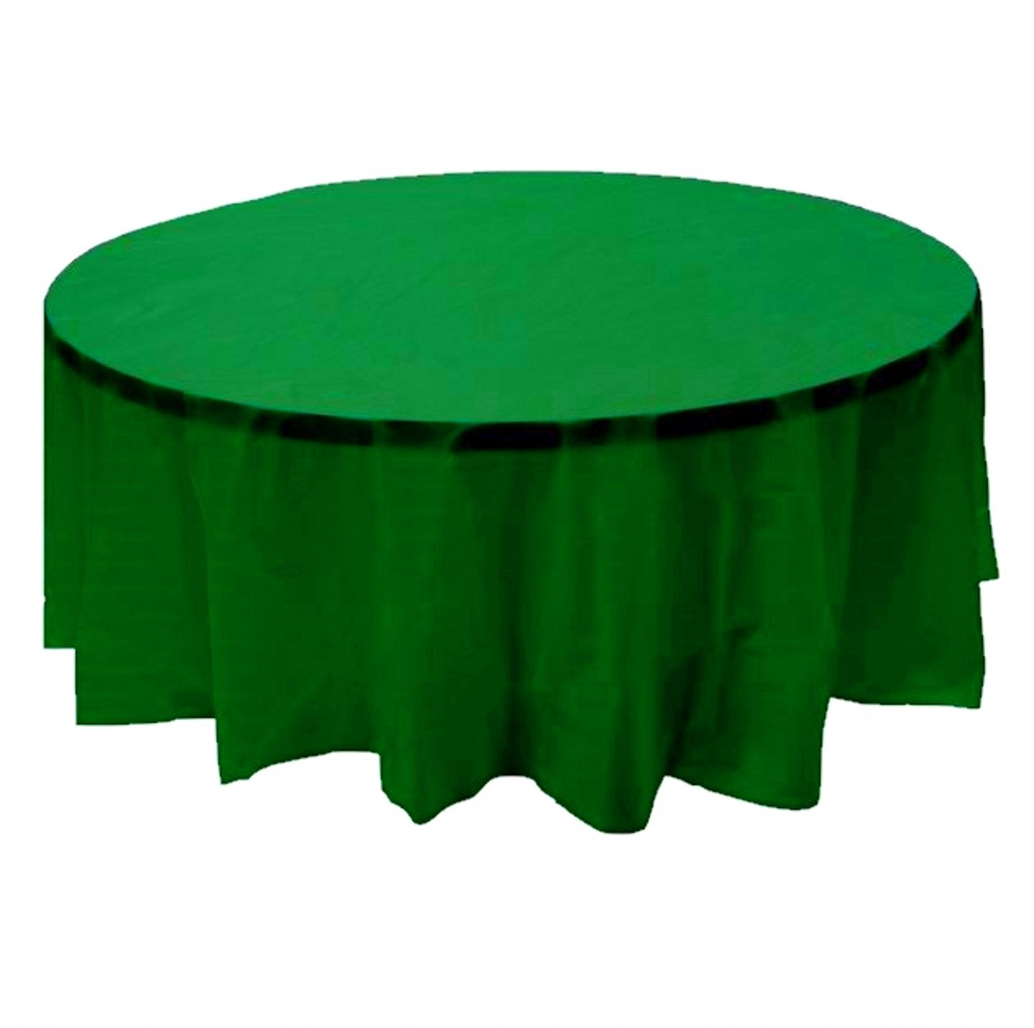 24 pcs (1 case) of Plastic Heavy Duty Premium Round tablecloths 84'' Diameter Table Cover - Kelly Green