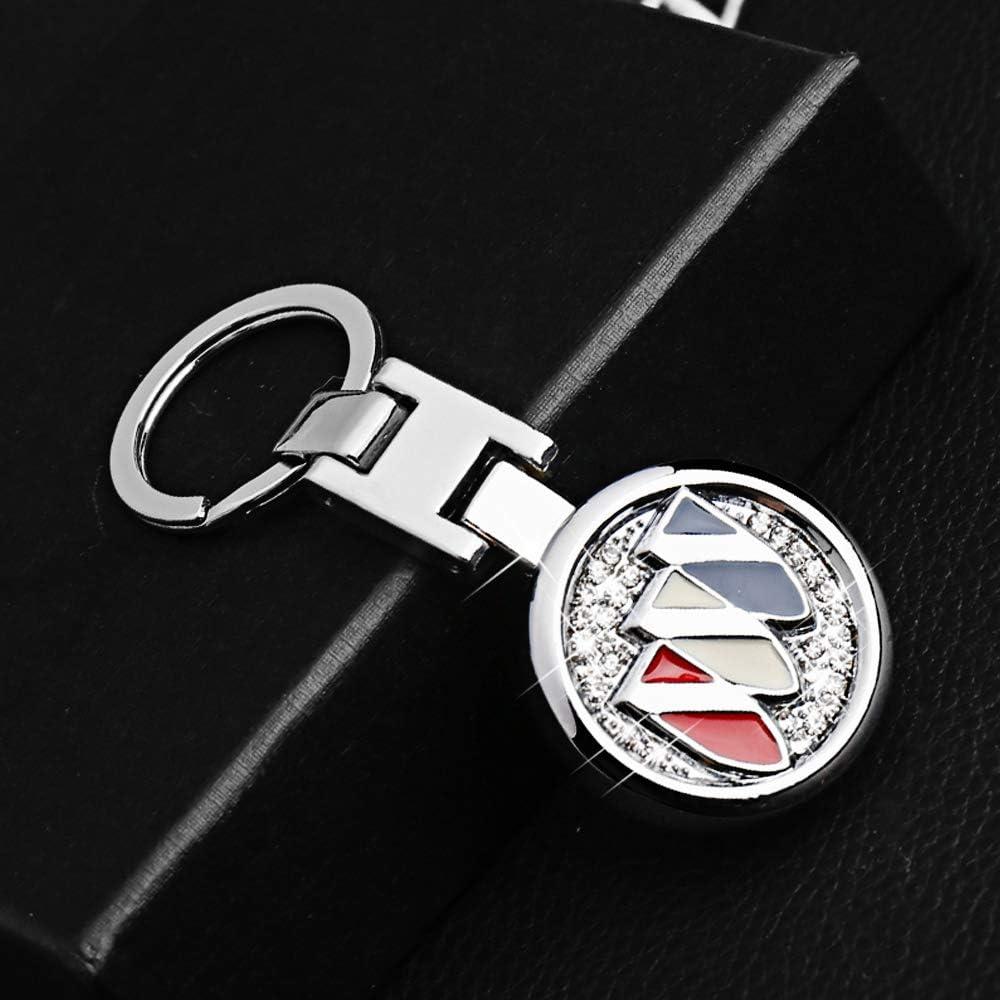 VILLSION Porte-cl/és de Voiture Porte-cl/és Diamant /à Logo Double Face en m/étal Venez avec Une bo/îte Cadeau