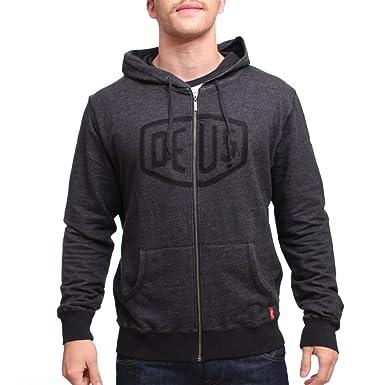 51696bcfeb654 Deus Ex Machina - Sweat-shirt à capuche - Homme Noir Noir - - L ...