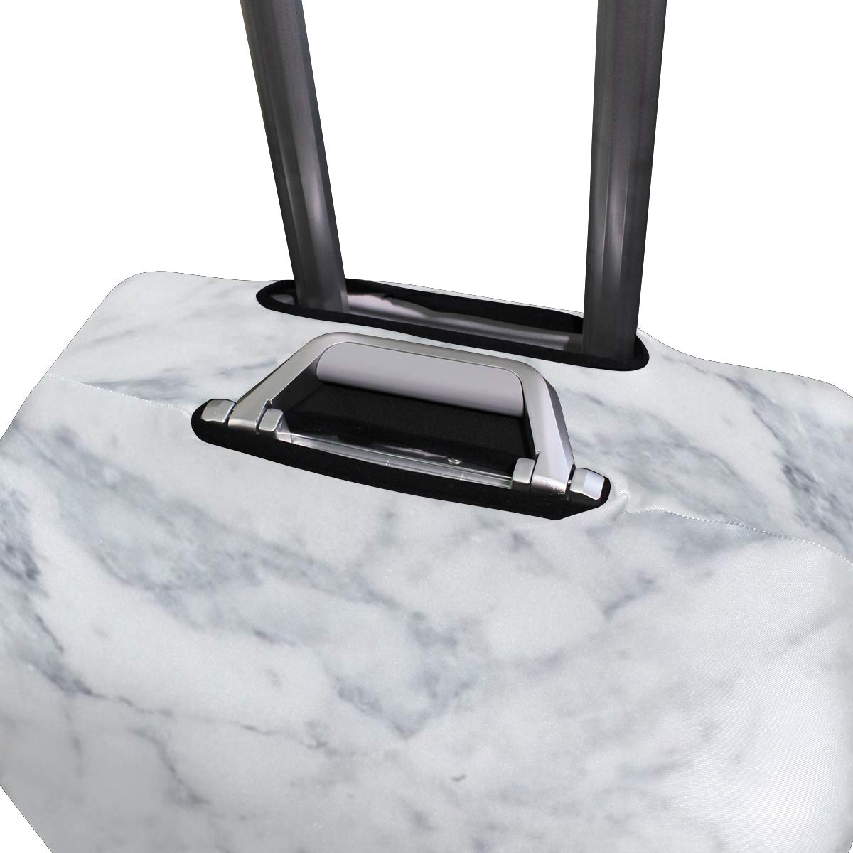 White Marble Traveler Lightweight Rotating Luggage Cover Can Carry With You Can Expand Travel Bag Trolley Rolling Luggage Cover