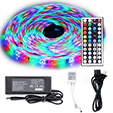 Image of LEH LED Rope Lights 32.8 Feet RGB Light Strip Waterproof 3528 SMD 600 Leds LED Strip Lights Full Kit