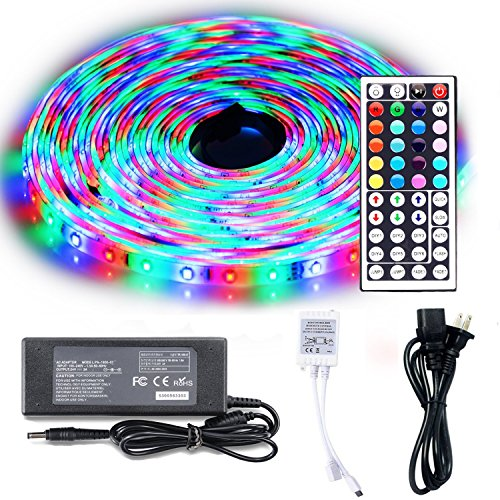 Tile Bead Kit (LEH LED Rope Lights 32.8 Feet RGB Light Strip Waterproof 3528 SMD 600 Leds LED Strip Lights Full Kit)