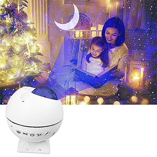 Star Projector Huayuet 3 in 1 Galaxy Projector with Remote Sound Actived LED Night Light Suitable for Party/Bedroom/Home Decoration Adults Kids Gift