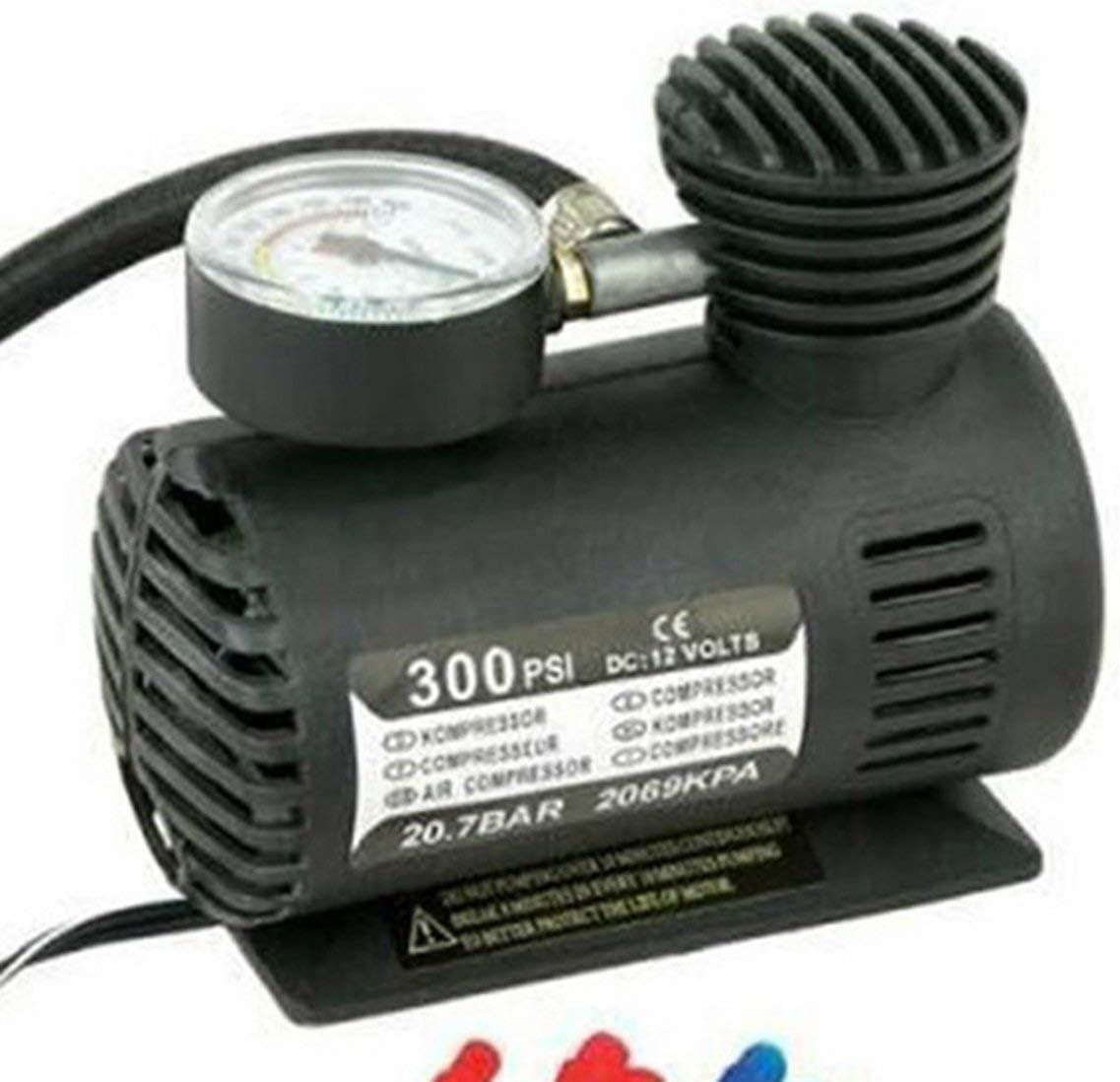 Lorenlli Quick Flow Compact Air Compressor,12v Car Electric Mini Compact Compressor Pump Bike Tyre Air Inflator 300psi