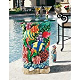 Cheap Design Toscano The Great Barrier Reef Glass-Topped Table, Multicolored