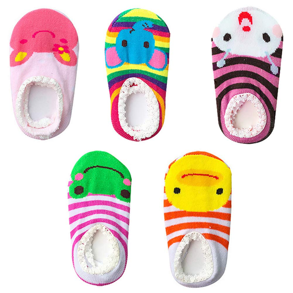 10 pairs Anti Slip Skid Ankle Cotton Baby Walker Girls Toddler for 6-18 Months