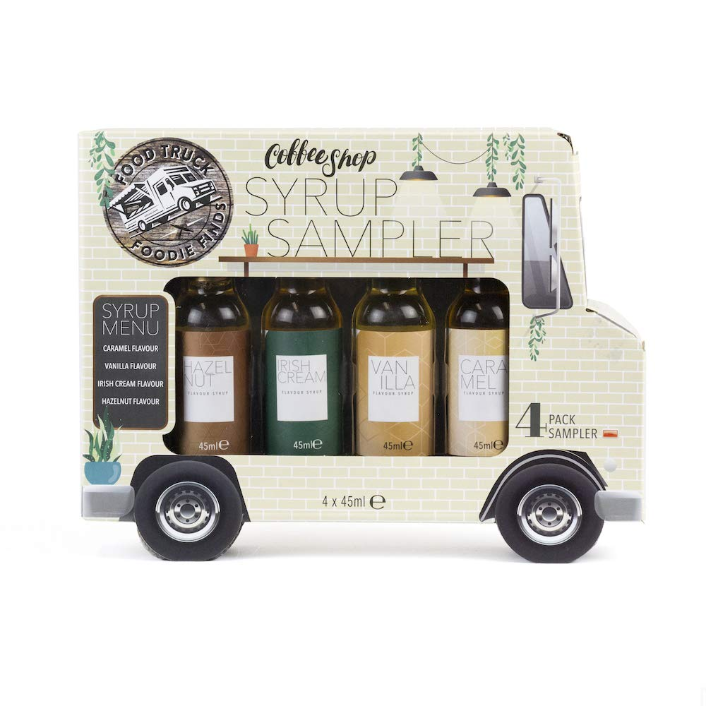 Modern Gourmet Foods Food Truck Coffee Shop Syrup Gift Set 45 Ml Each Set Of 4 Delicious Coffee Syrup Samplers