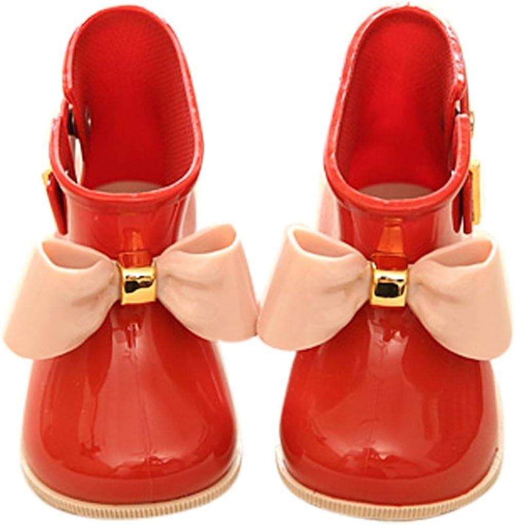 DIGOOD Baby Boys Girls Cute Shoes Girl Shoes Children Bowknot Waterproof Rain Boot