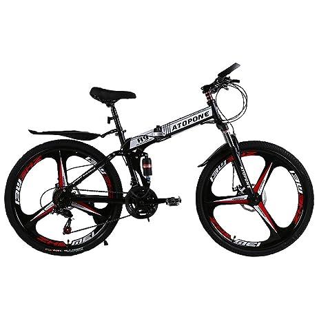ATOPONE A9 Pro Bicycle 38 Speed Mens Aluminum Folding Mountain Bike 24speeds 3 spokes Mountain Bike