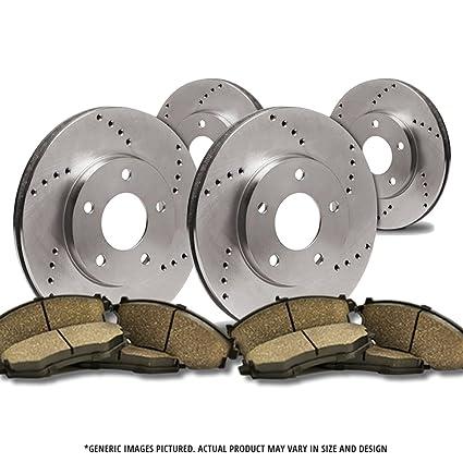 5lug Front Rotors 2 Cross Drilled Great-Life Premium Disc Brake Rotors