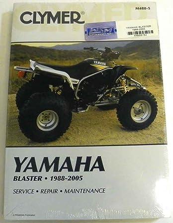 amazon com atv moto x yamaha clymer manual models blaster 1988 2004 rh amazon com 04 Blaster Yamaha Blaster 350