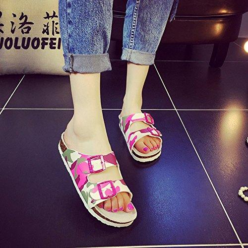 Playa Corcho Del Femenino de Zapatos mujeres Pares Verano Colores Del La De Los Verano 3 Para mujer Con Manera zapatos HAIZHEN Femeninas 1 De Zapatillas Owp0faO