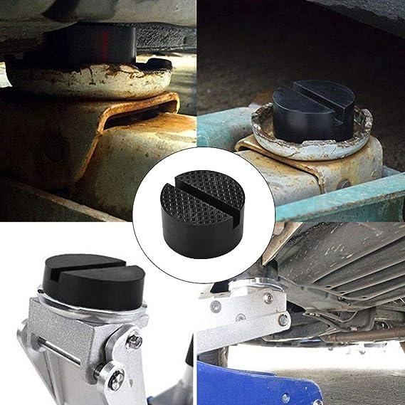 Tampone in Gomma Universale 2pz Jack Pad con Scanalatura per Cric Idraulici Ponte Sollevatore Auto 50mm