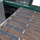 4 x Aluminium Anti Slip Plates for Boat Docks Decking & Walkways 115 X 635 mm